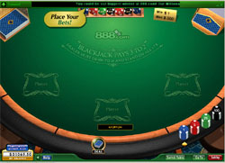 888 casino Blackjack table